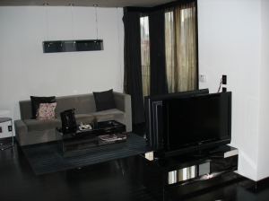 Two TVs and Seating area