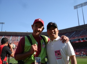 With the Z-man before a recent 49er game