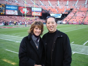 With ESPN's Suzy Kolber